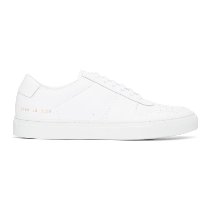 Common Projects White BBall Low Sneakers