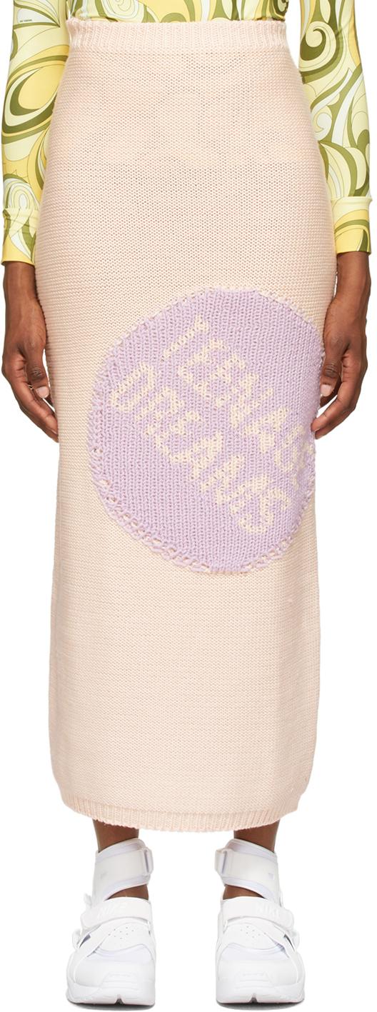 Raf Simons Pink Jacquard Skirt