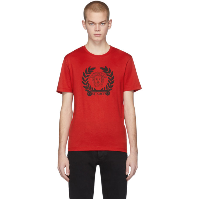 Photo: Versace Red Medusa Laurel T-Shirt
