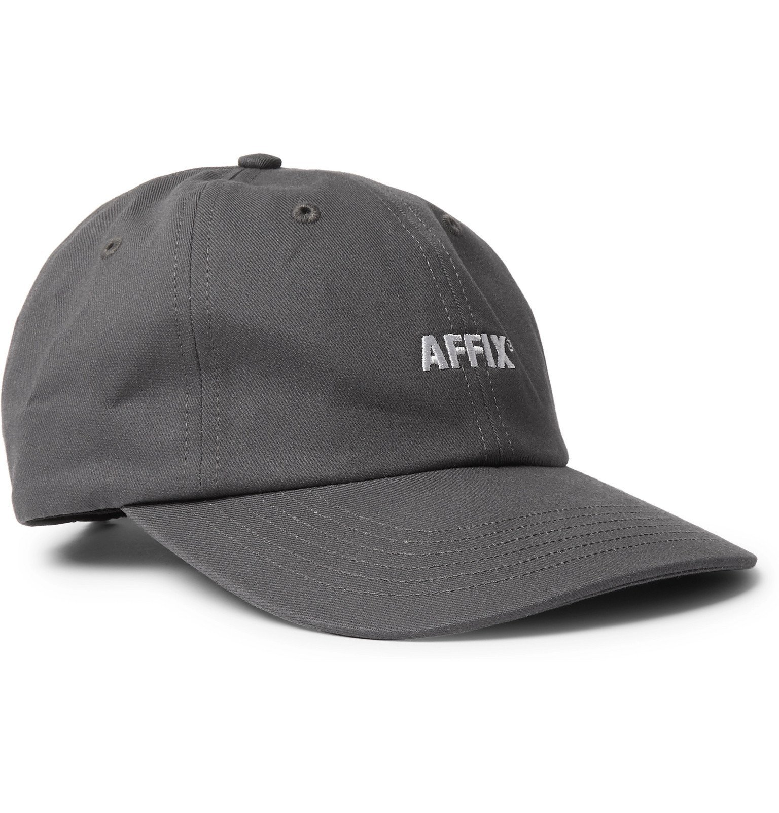 Photo: AFFIX - Logo-Embroidered Cotton-Twill Baseball Cap - Gray