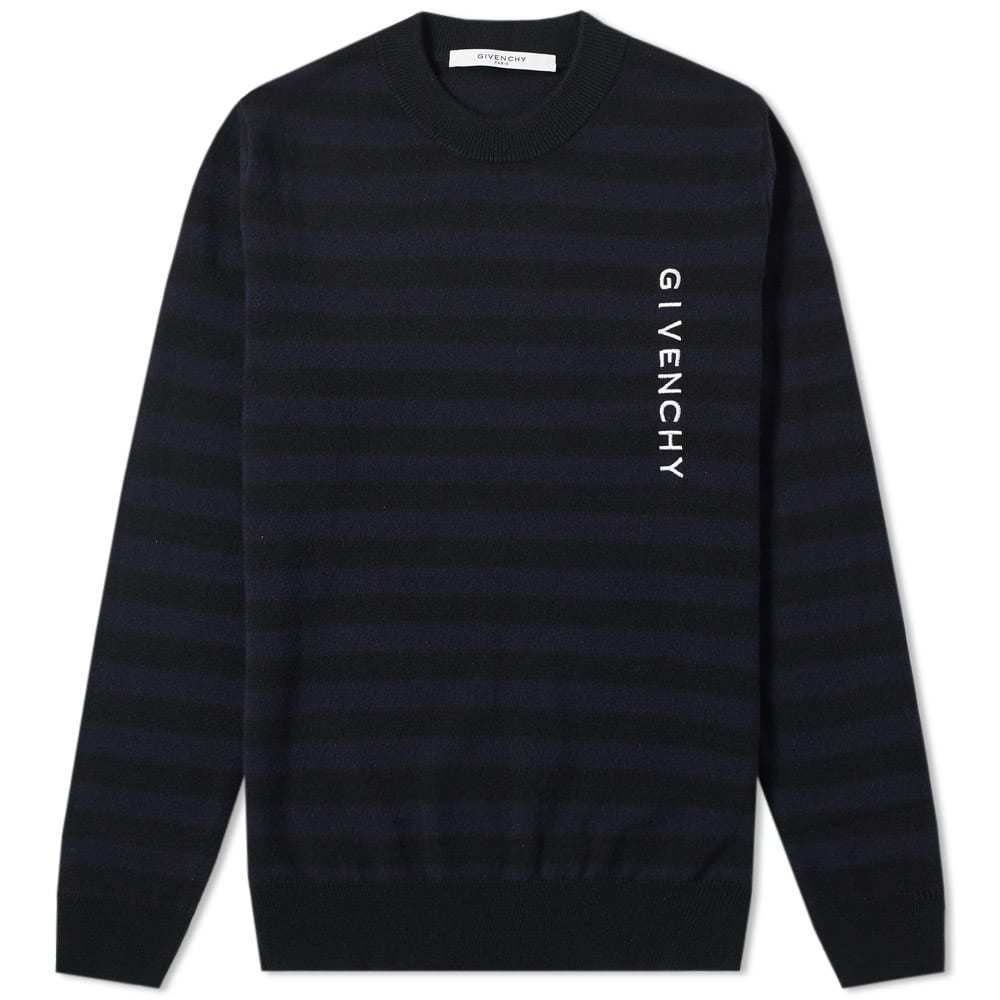 Photo: Givenchy Stripe Logo Crew Knit