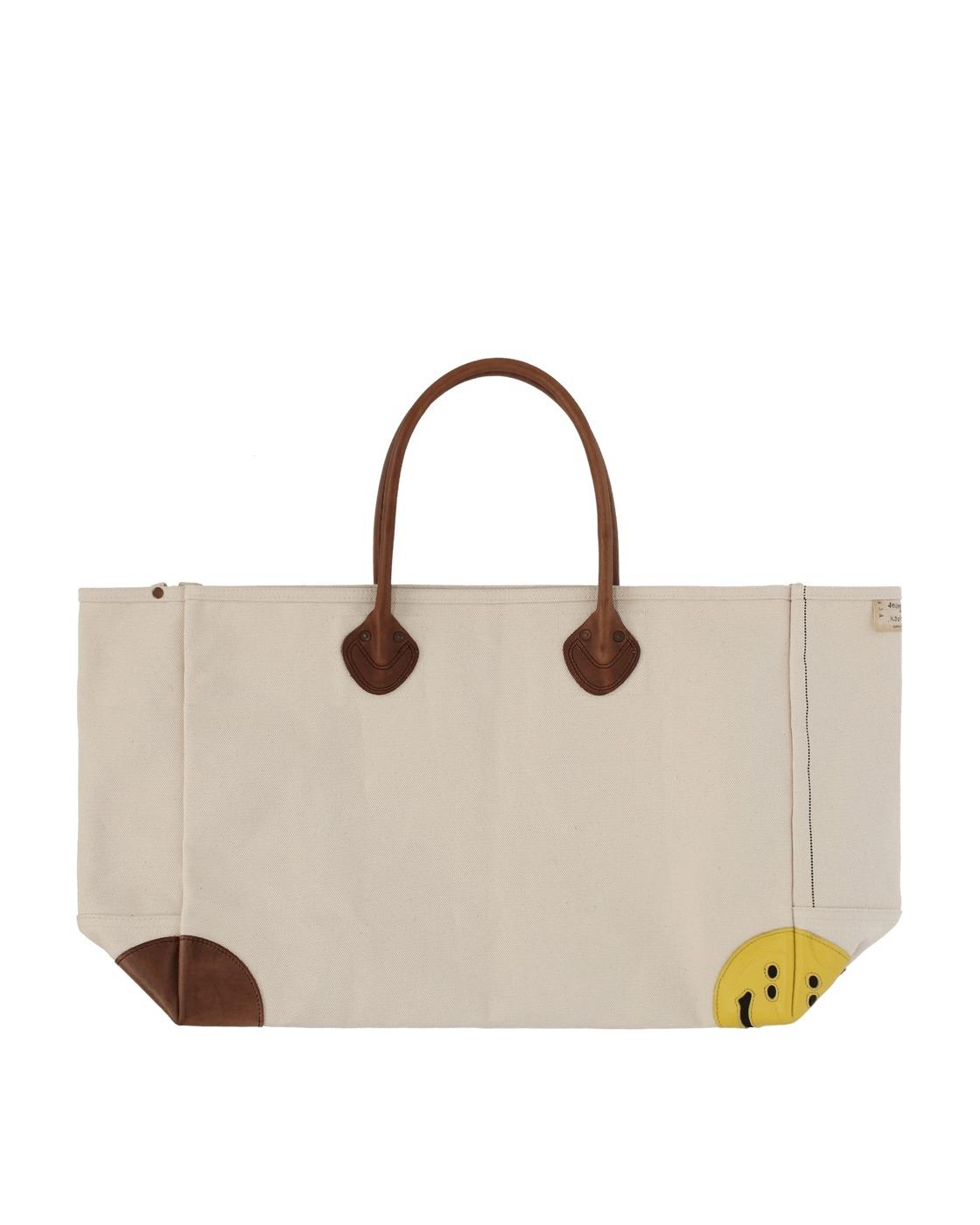 Kapital No. 4 Canvas Rain Smile Milk Bag Ecru