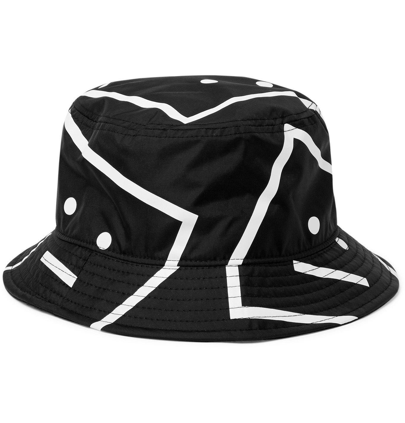 Acne Studios - Logo-Print Nylon Bucket Hat - Black