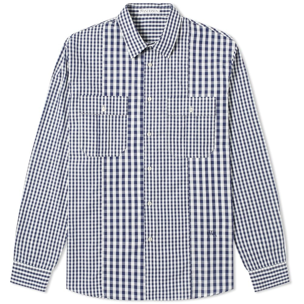 Photo: JW Anderson Gingham Panelled Shirt