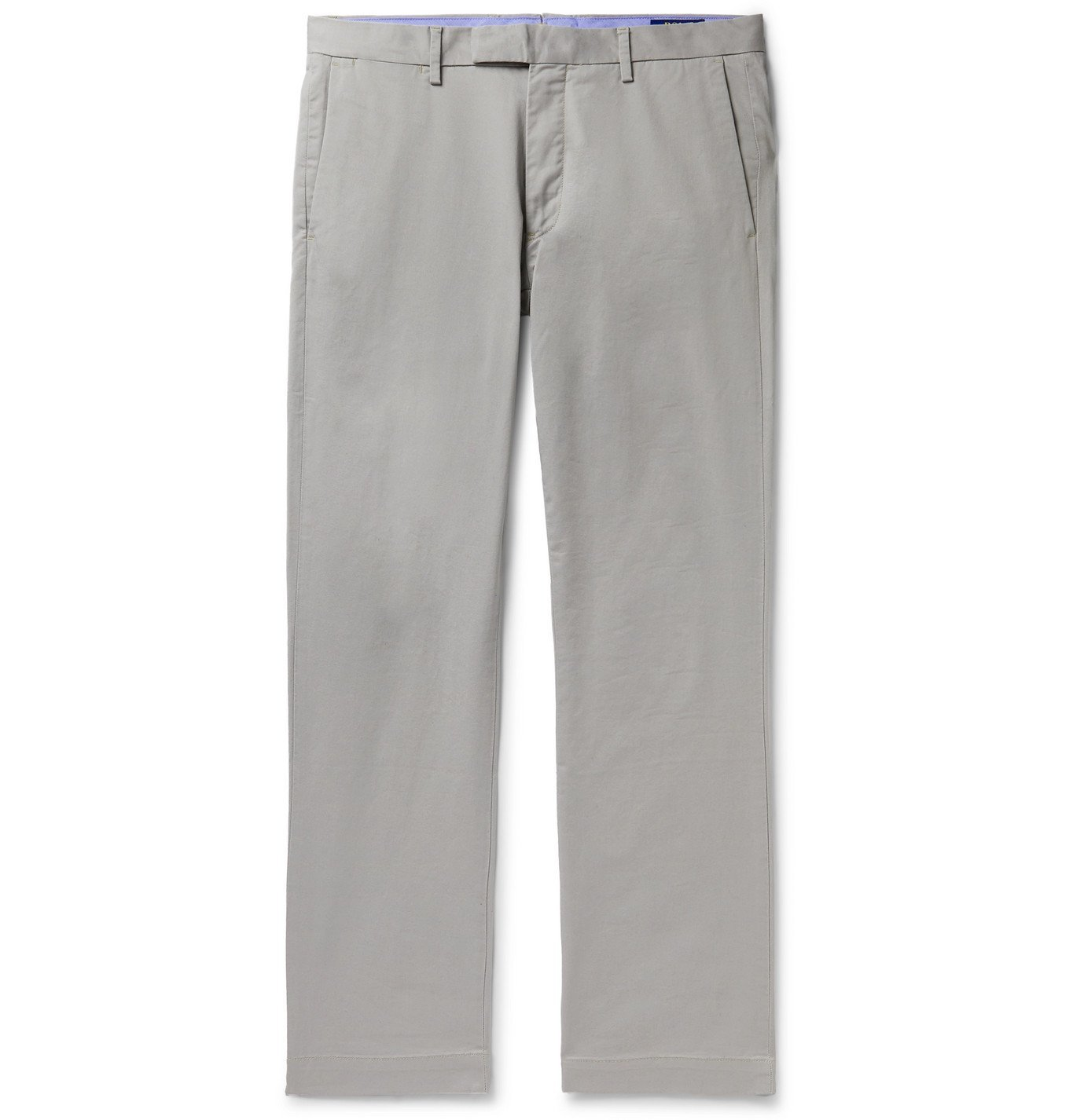 Photo: Polo Ralph Lauren - Slim-Fit Cotton-Blend Twill Chinos - Gray