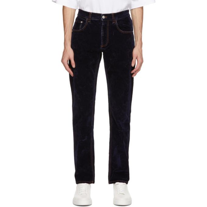 Photo: GCDS Navy Velvet Jeans