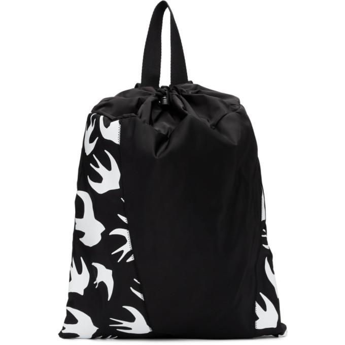 Photo: McQ Alexander McQueen Black Swallow Drawstring Backpack