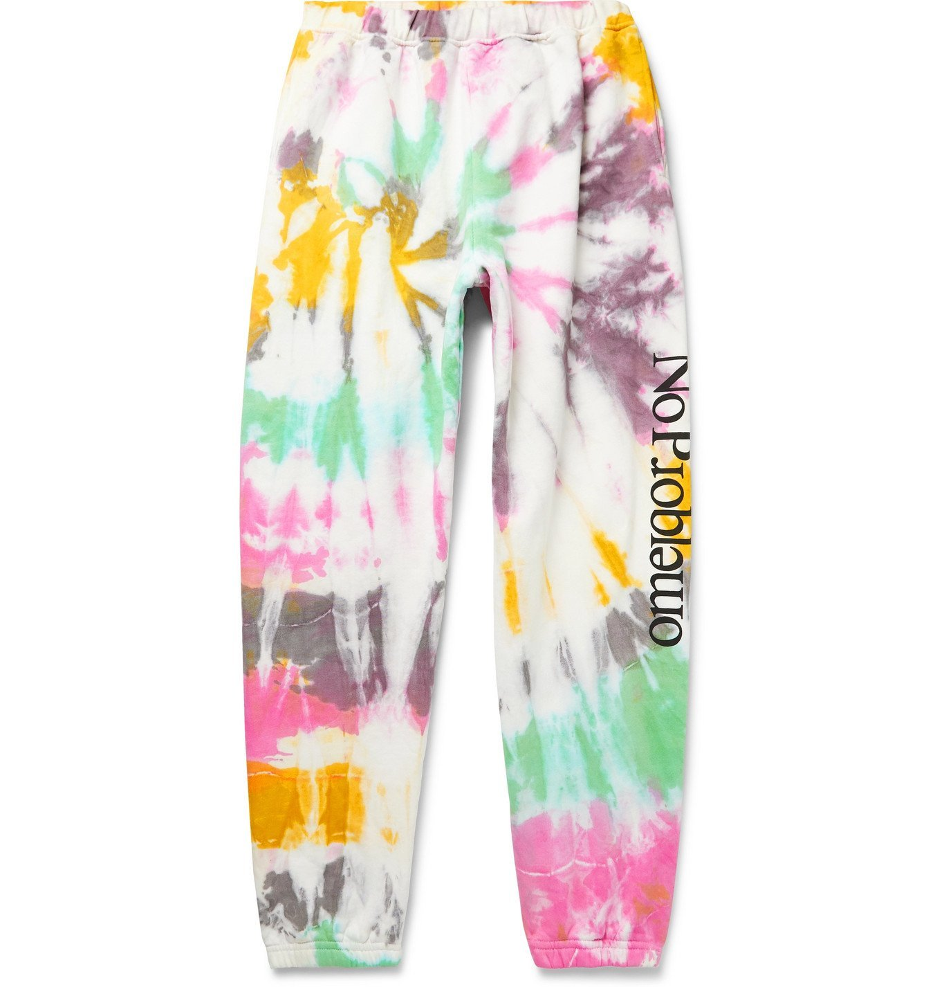 Aries - No Problemo Tapered Tie-Dyed Fleece-Back Cotton-Jersey Sweatpants - Multi