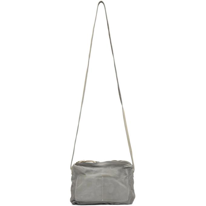 Photo: Boris Bidjan Saberi Grey Dyed Leather Crossbody Bag