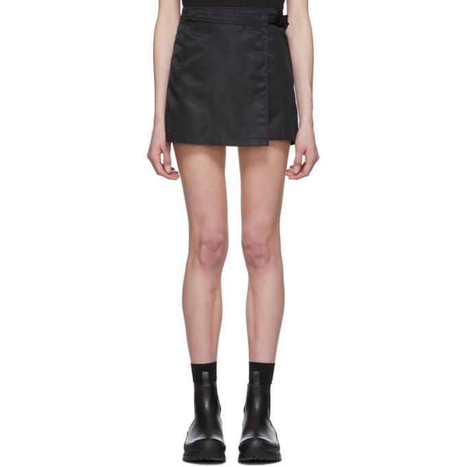 Photo: 1017 ALYX 9SM Black Recycled Nylon Wrap Miniskirt