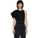 3.1 Phillip Lim Black Asymmetric Sleeve T-Shirt
