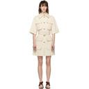 Nina Ricci Off-White Denim Belted Dress