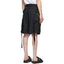 Sacai Black Cotton-Blend Shorts