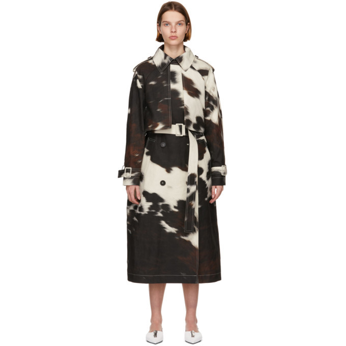 Photo: Stella McCartney Off-White Cow Print Leanna Trench Coat