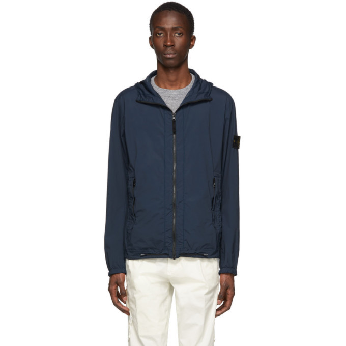 Photo: Stone Island Navy Skin Touch Packable Jacket