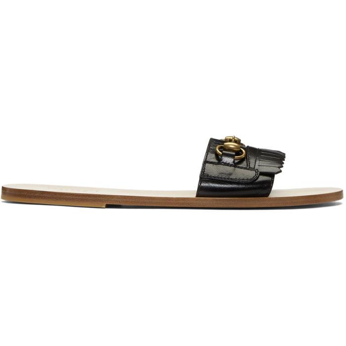 Photo: Gucci Black Vardero Fringe Sandals