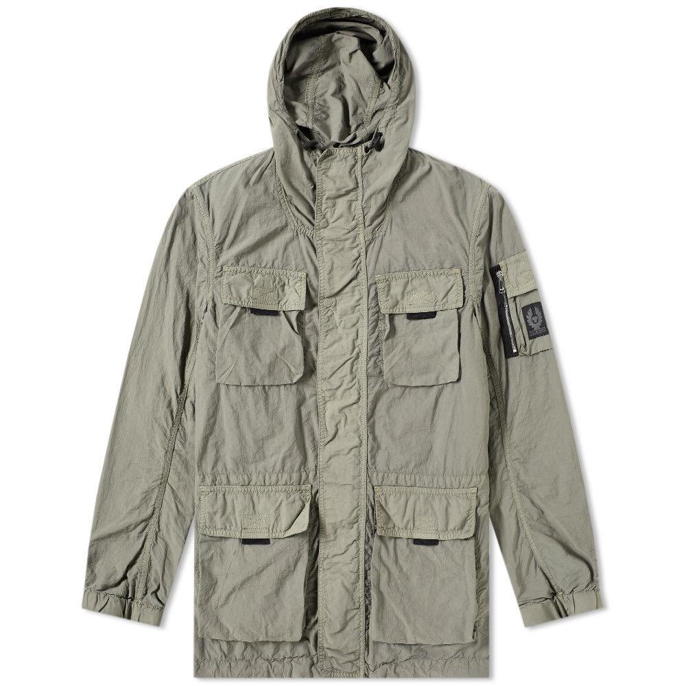 Belstaff Pallington Garment Dyed Nylon Jacket Green