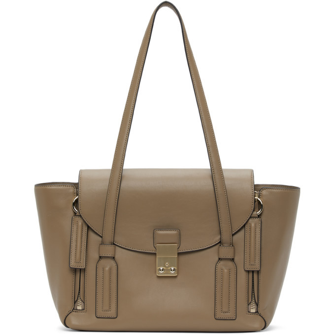 Photo: 3.1 Phillip Lim Taupe Medium Pashli Satchel Tote