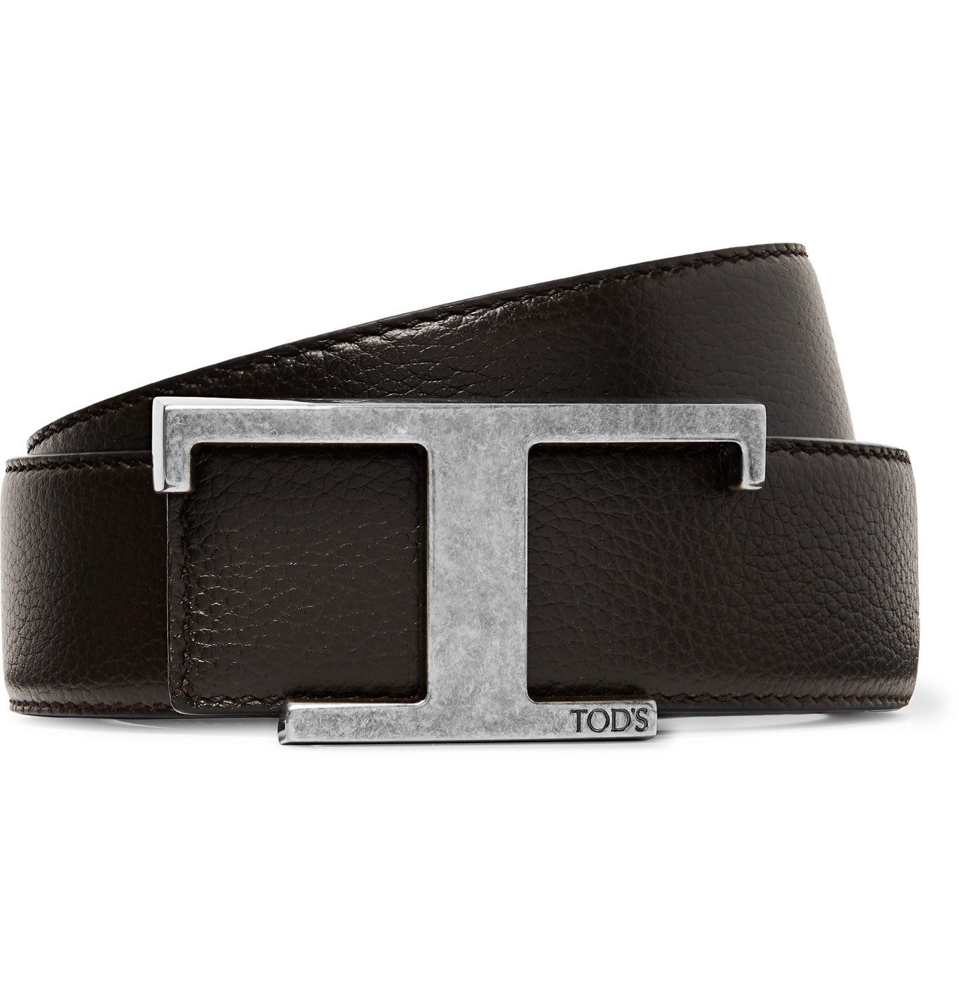 Photo: Tod's - 3.5cm Reversible Full-Grain Leather Belt - Brown