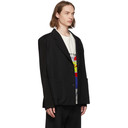 Botter Black Wool Tricot Sleeve Blazer