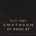 Smythson - Panama Cross-Grain Leather Cufflink Box - Black