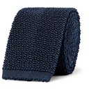 Dunhill - 6cm Knitted Mulberry Silk Tie - Men - Navy