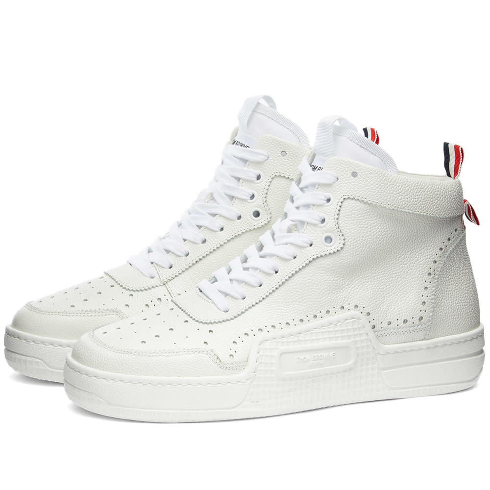 Photo: Thom Brown Basketball Pebble Grain Leather Hi-Top Sneaker