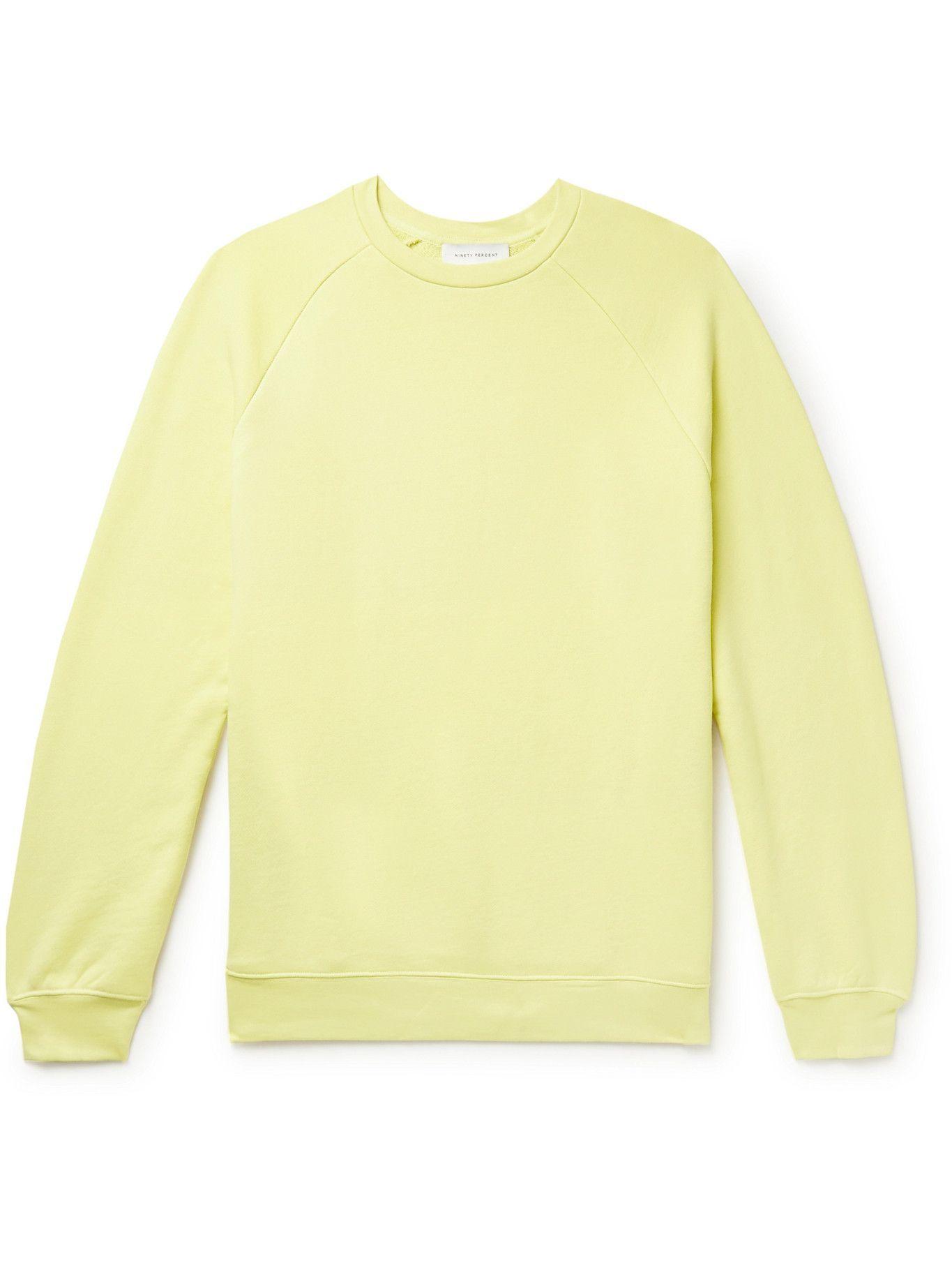 Photo: Ninety Percent - Organic Cotton-Jersey Sweatshirt - Yellow