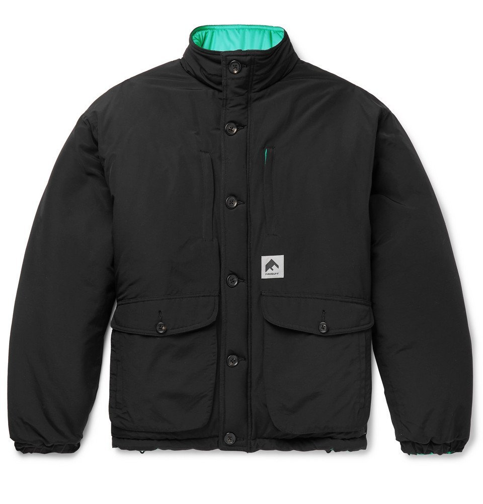Photo: Flagstuff - Reversible Quilted Cotton-Blend and Shell Jacket - Black