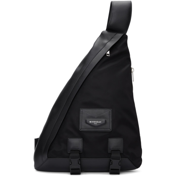 Photo: Givenchy Black One Shoulder Envelope Backpack