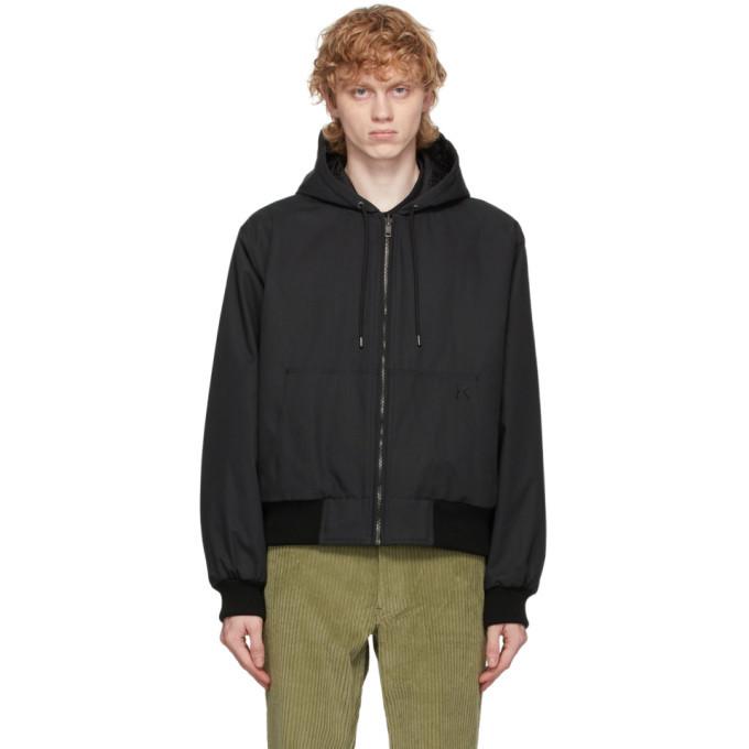 Photo: Kenzo Reversible Black Canvas Hooded Jacket