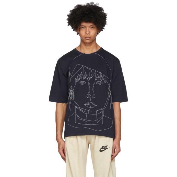 Photo: Bless Navy Stitched Starcut II T-Shirt