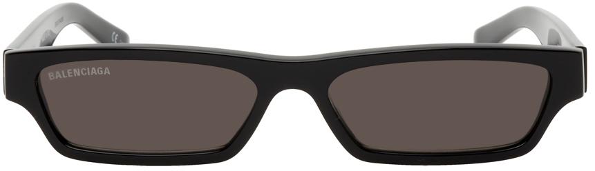 Photo: Balenciaga Black Rectangular Sunglasses