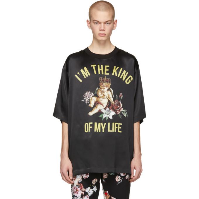Photo: Dolce and Gabbana Black Silk King Of My Life T-Shirt