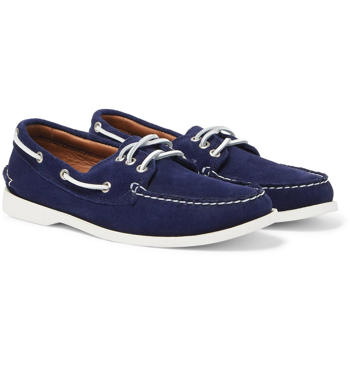 Photo: Quoddy - Downeast Suede Boat Shoes - Blue