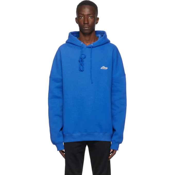 Photo: We11done Blue Embroidered Logo Hoodie