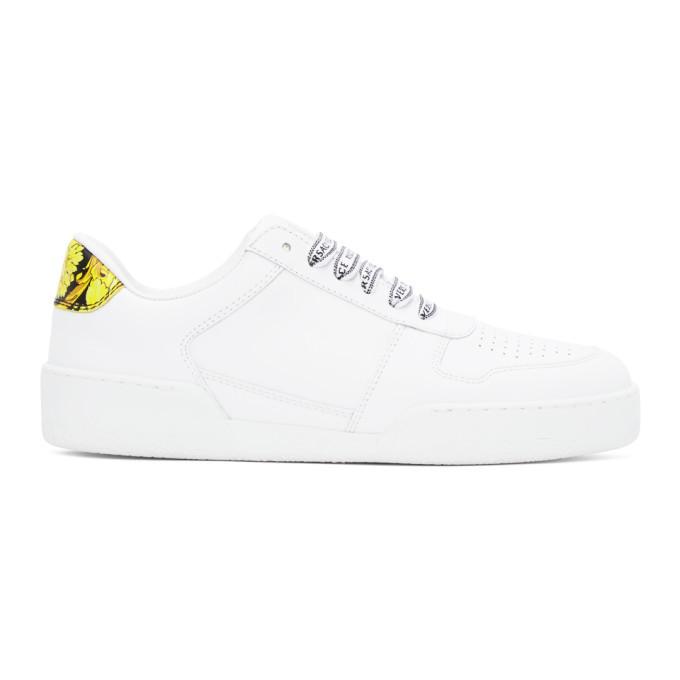 Versace White Ilus Sneakers