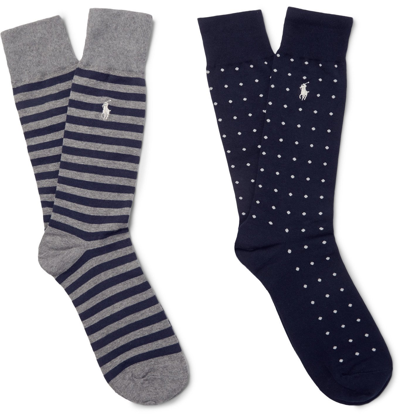 Photo: Polo Ralph Lauren - Two-Pack Stretch Cotton-Blend Socks - Blue