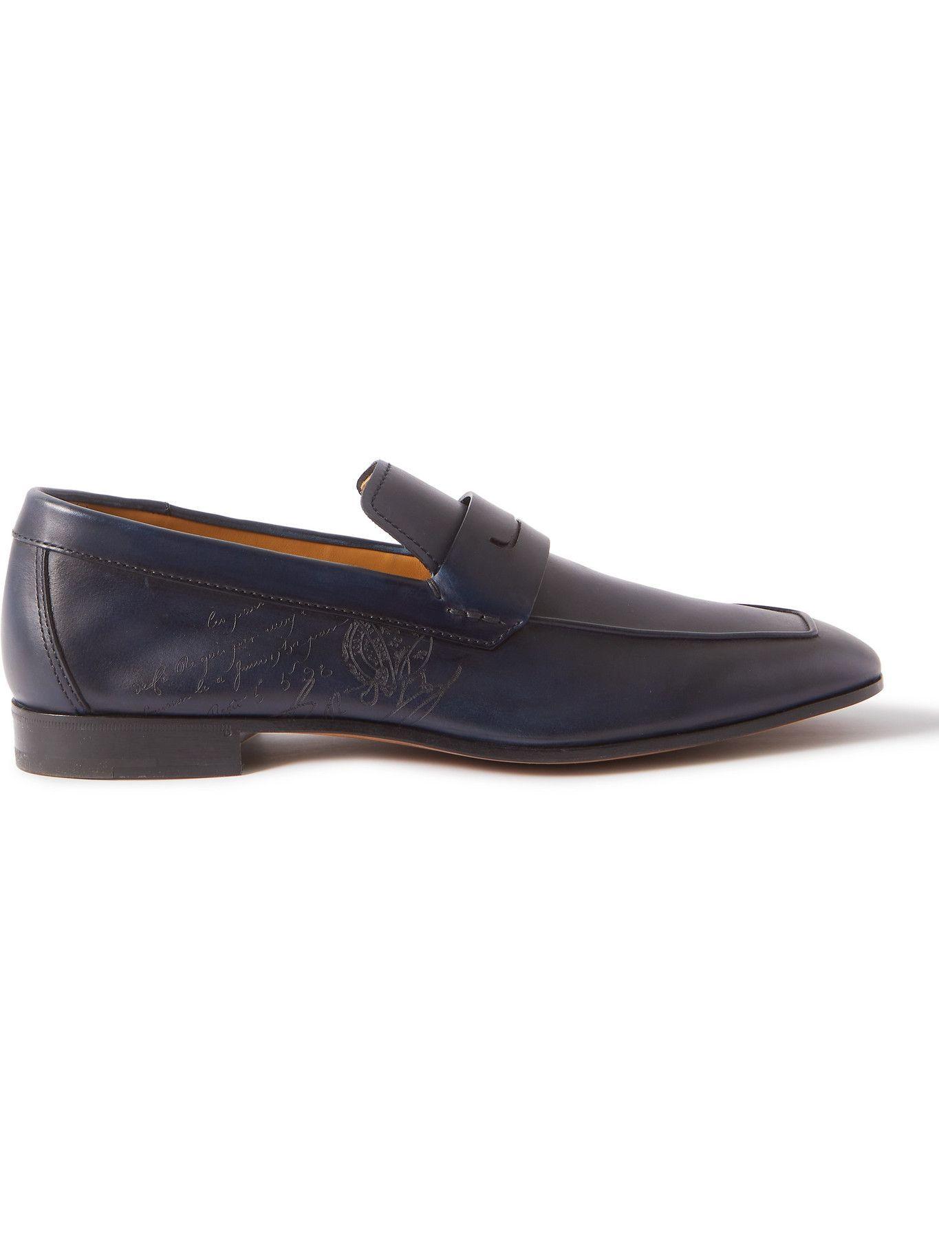 Photo: Berluti - Lorenzo Scritto Venezia Leather Loafers - Blue