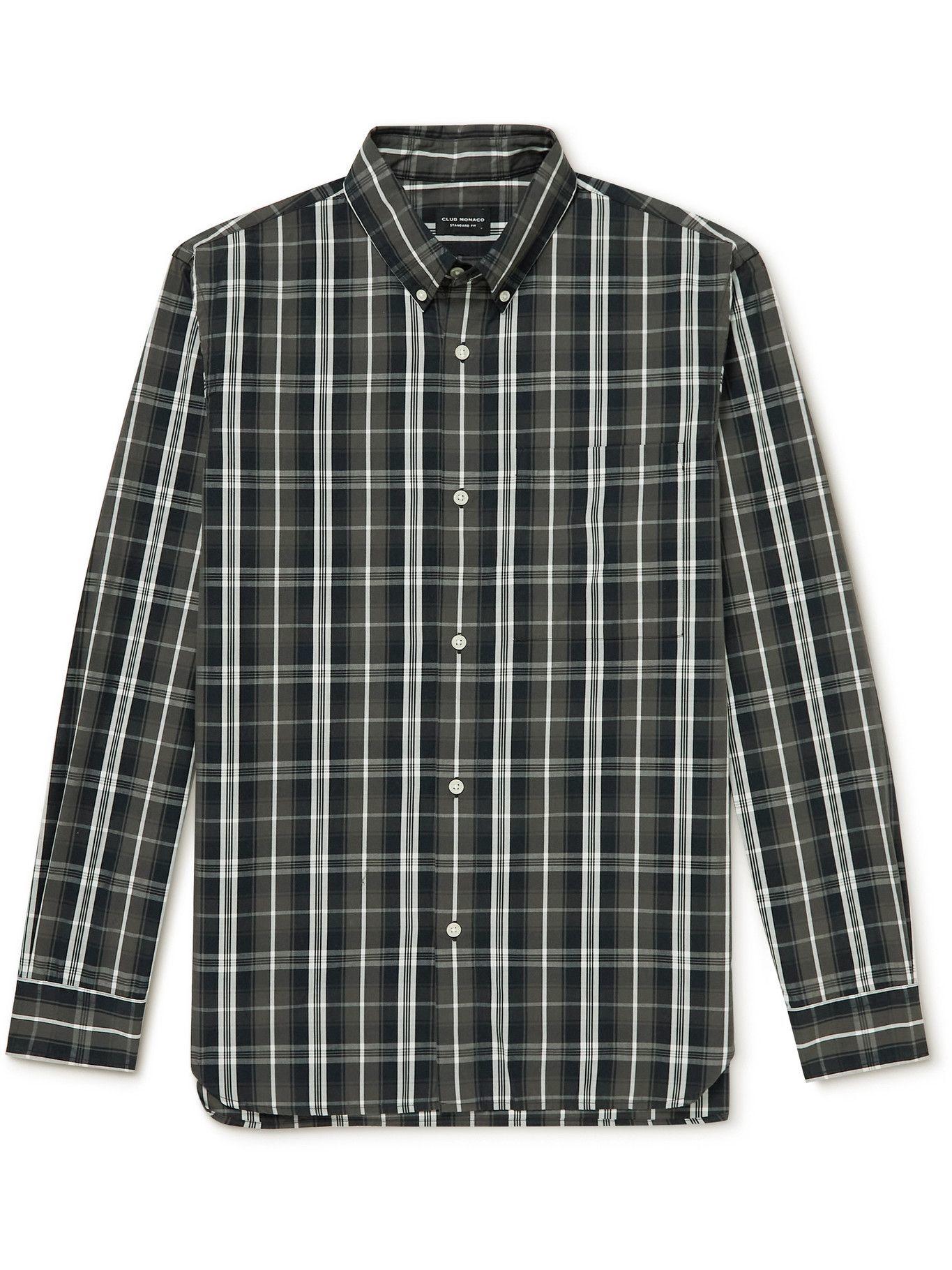 Photo: Club Monaco - Button-Down Collar Checked Cotton-Poplin Shirt - Multi