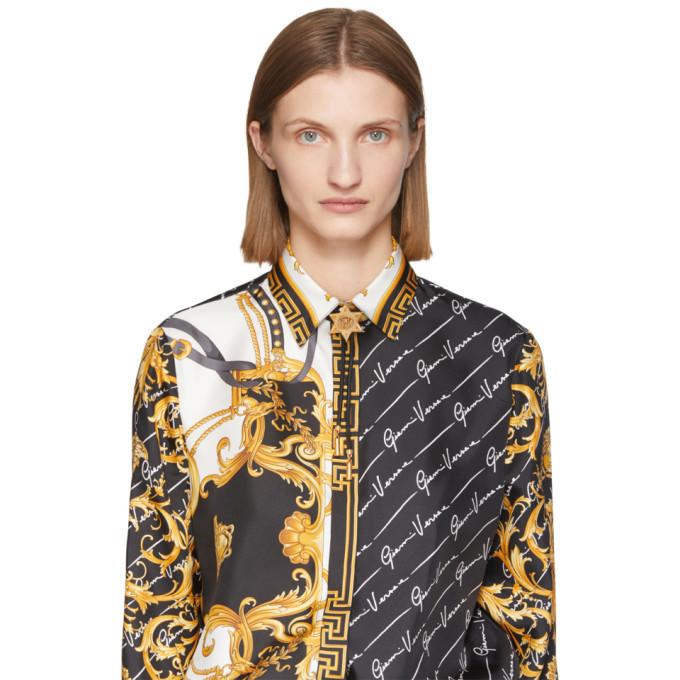 Versace Black Bolo Tie Star Necklace
