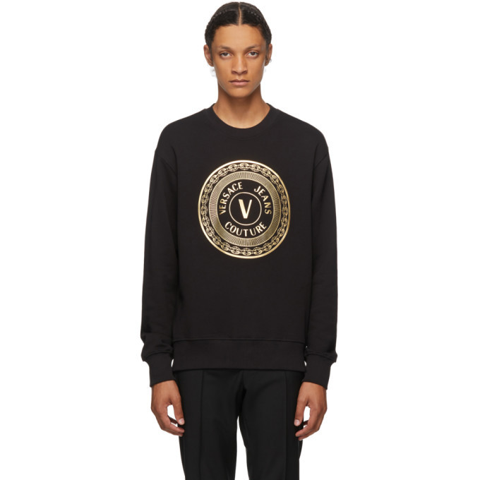 Photo: Versace Jeans Couture Black and Gold Logo Sweatshirt