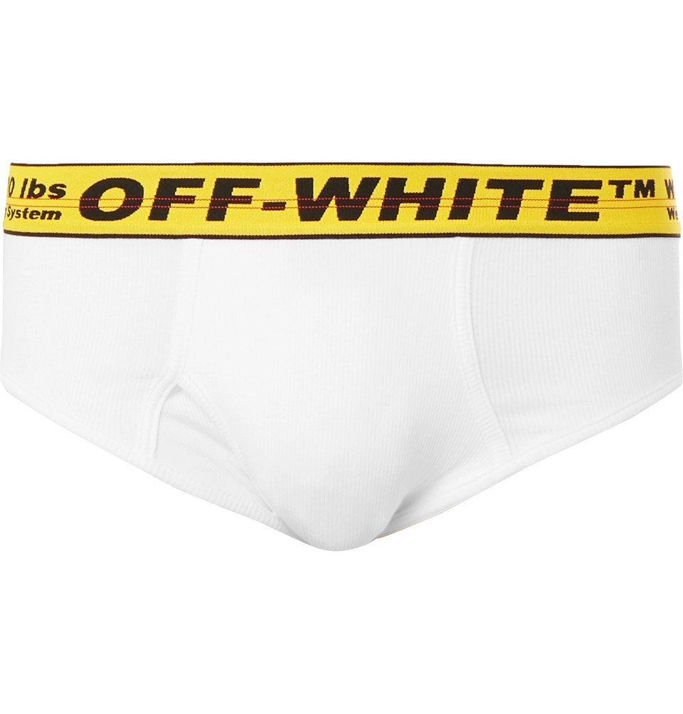 Photo: Off-White - Stretch-Cotton Briefs - White