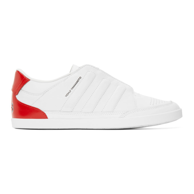 Photo: Y-3 White Honja Low-Top Sneakers