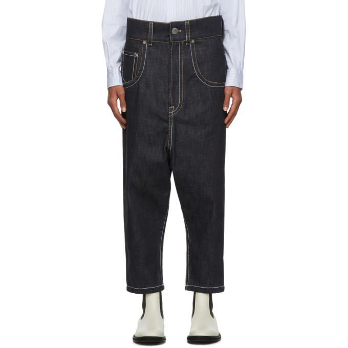 Photo: Lanvin Navy Low Crotch Jeans