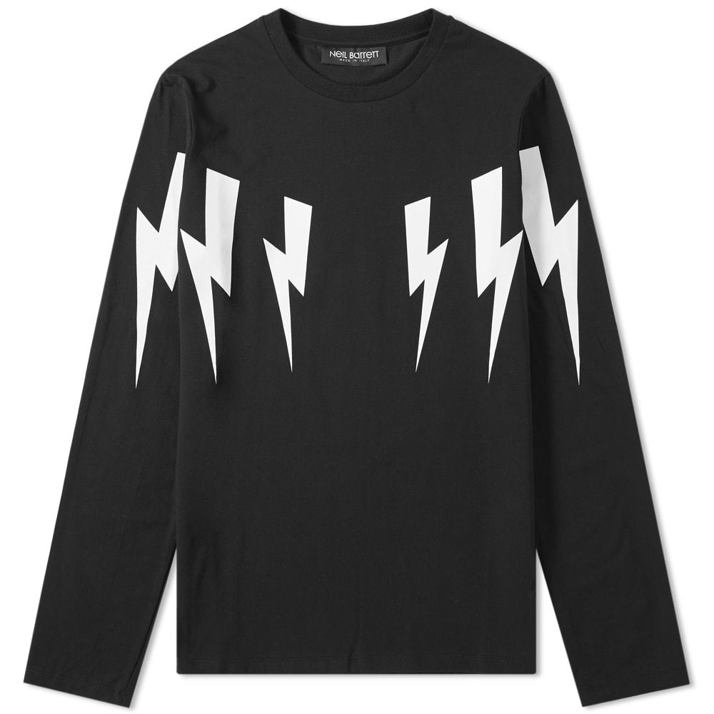 Photo: Neil Barrett Long Sleeve Fair Isle Lightning Bolt Tee