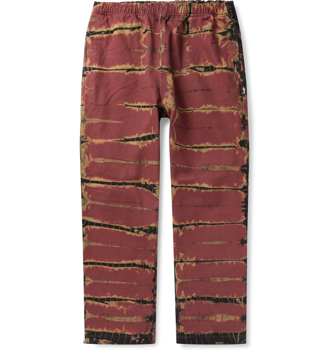 Photo: Stüssy - Tie-Dyed Denim Trousers - Red