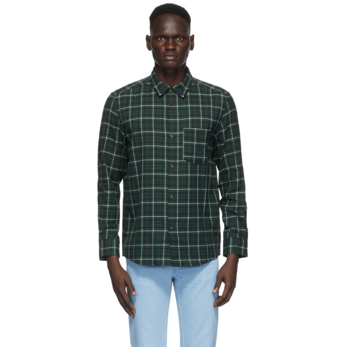 Photo: A.P.C. Green Plaid John Shirt