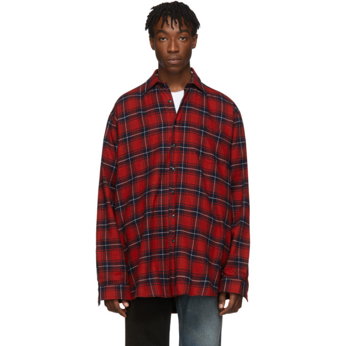 Photo: VETEMENTS Reversible Red and Green Oversized Shirt