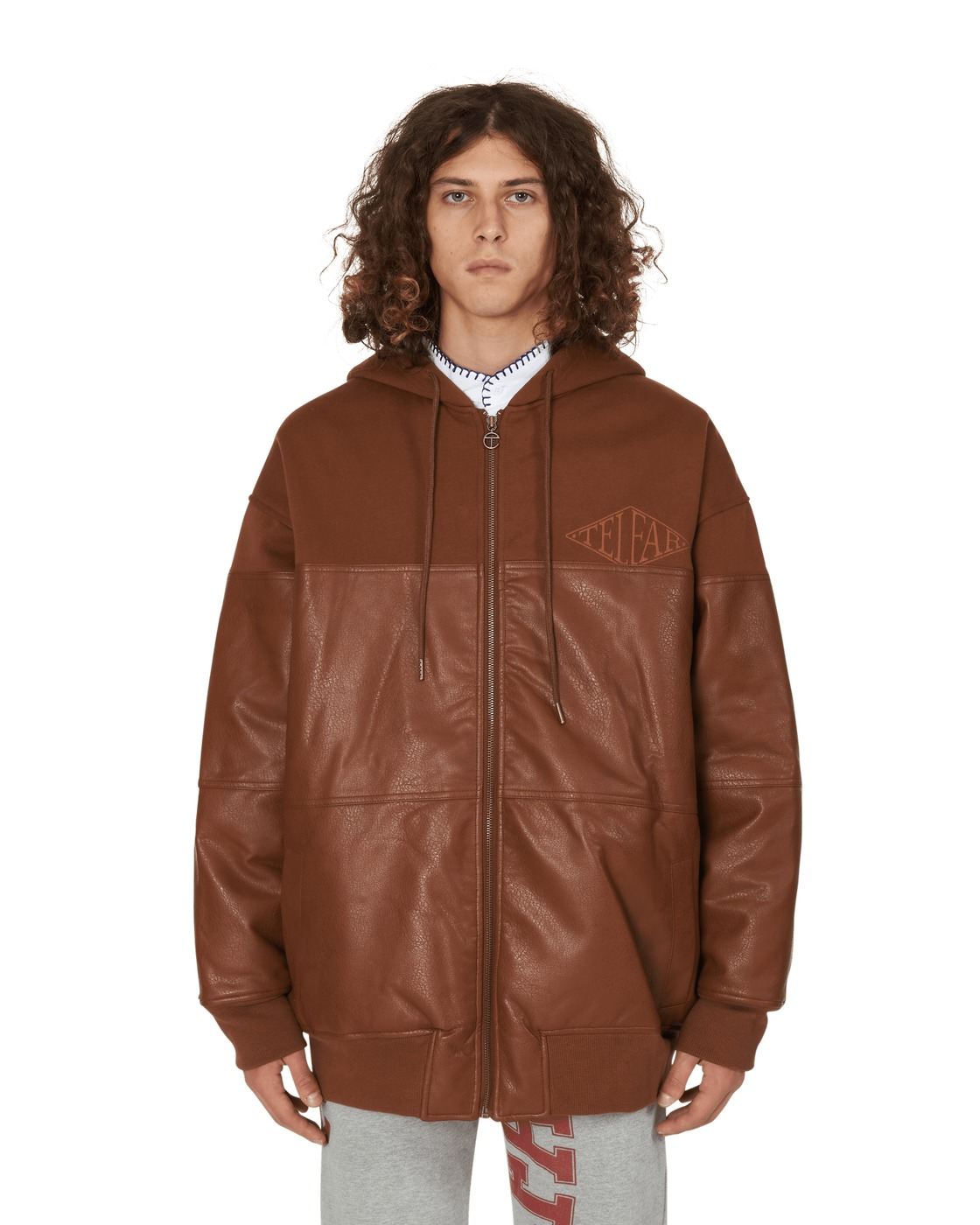 Photo: Telfar Pu Puff Hoodie Brown/Black